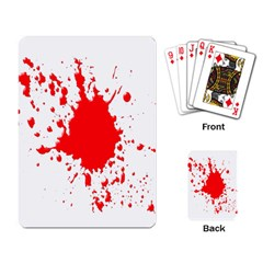 Red Blood Splatter Playing Card by Mariart