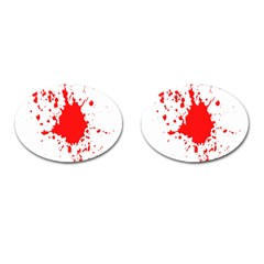 Red Blood Splatter Cufflinks (oval) by Mariart
