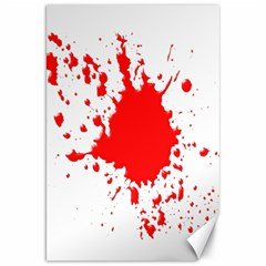 Red Blood Splatter Canvas 20  X 30   by Mariart