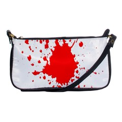 Red Blood Splatter Shoulder Clutch Bags by Mariart