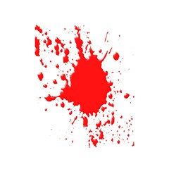 Red Blood Splatter Shower Curtain 48  X 72  (small)  by Mariart