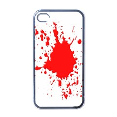 Red Blood Splatter Apple Iphone 4 Case (black) by Mariart