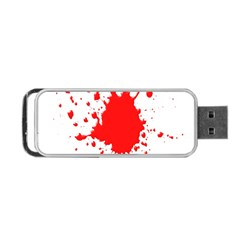 Red Blood Splatter Portable Usb Flash (two Sides) by Mariart