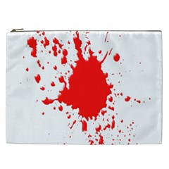 Red Blood Splatter Cosmetic Bag (xxl)  by Mariart