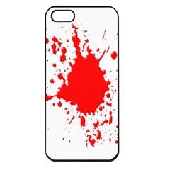 Red Blood Splatter Apple Iphone 5 Seamless Case (black) by Mariart