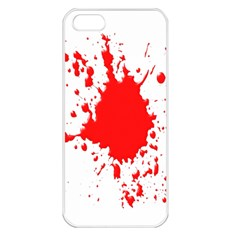 Red Blood Splatter Apple Iphone 5 Seamless Case (white) by Mariart