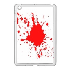 Red Blood Splatter Apple Ipad Mini Case (white) by Mariart