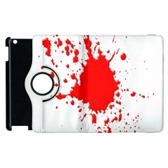 Red Blood Splatter Apple Ipad 2 Flip 360 Case by Mariart