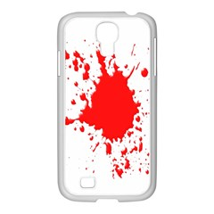 Red Blood Splatter Samsung Galaxy S4 I9500/ I9505 Case (white) by Mariart