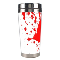 Red Blood Splatter Stainless Steel Travel Tumblers by Mariart