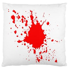 Red Blood Splatter Standard Flano Cushion Case (one Side) by Mariart
