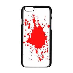 Red Blood Splatter Apple Iphone 6/6s Black Enamel Case by Mariart