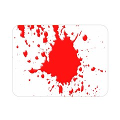Red Blood Splatter Double Sided Flano Blanket (mini)  by Mariart