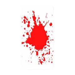 Red Blood Splatter Samsung Galaxy Alpha Hardshell Back Case by Mariart