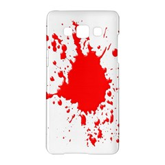 Red Blood Splatter Samsung Galaxy A5 Hardshell Case  by Mariart