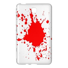 Red Blood Splatter Samsung Galaxy Tab 4 (7 ) Hardshell Case  by Mariart