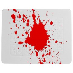 Red Blood Splatter Jigsaw Puzzle Photo Stand (rectangular) by Mariart