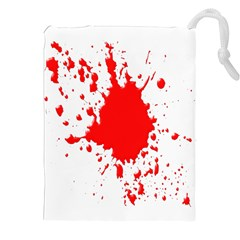 Red Blood Splatter Drawstring Pouches (xxl) by Mariart
