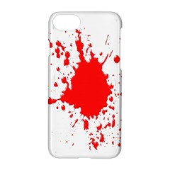 Red Blood Splatter Apple Iphone 7 Hardshell Case by Mariart