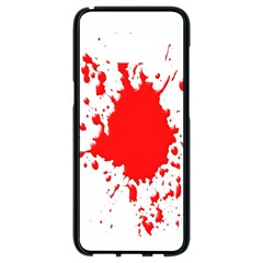 Red Blood Splatter Samsung Galaxy S8 Black Seamless Case by Mariart