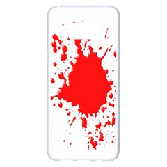Red Blood Splatter Samsung Galaxy S8 Plus White Seamless Case by Mariart
