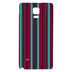 Red Blue Line Vertical Galaxy Note 4 Back Case by Mariart