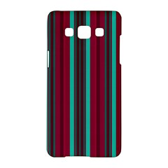 Red Blue Line Vertical Samsung Galaxy A5 Hardshell Case  by Mariart