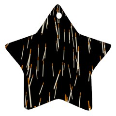 Rain Cigarettes Transparent Background Motion Angle Star Ornament (two Sides) by Mariart