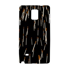 Rain Cigarettes Transparent Background Motion Angle Samsung Galaxy Note 4 Hardshell Case by Mariart