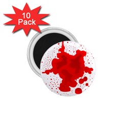 Red Blood Transparent 1 75  Magnets (10 Pack)  by Mariart