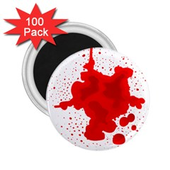 Red Blood Transparent 2 25  Magnets (100 Pack)  by Mariart