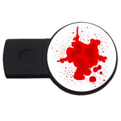 Red Blood Transparent Usb Flash Drive Round (4 Gb) by Mariart