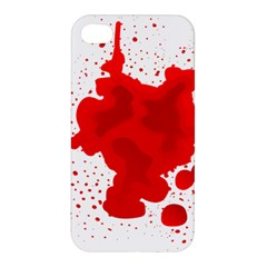 Red Blood Transparent Apple Iphone 4/4s Hardshell Case by Mariart