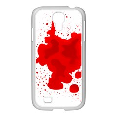 Red Blood Transparent Samsung Galaxy S4 I9500/ I9505 Case (white) by Mariart
