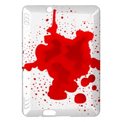 Red Blood Transparent Kindle Fire Hdx Hardshell Case by Mariart