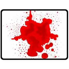 Red Blood Transparent Double Sided Fleece Blanket (large)  by Mariart