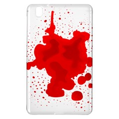 Red Blood Transparent Samsung Galaxy Tab Pro 8 4 Hardshell Case by Mariart