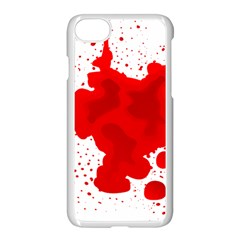 Red Blood Transparent Apple Iphone 7 Seamless Case (white) by Mariart
