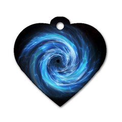 Hole Space Galaxy Star Planet Dog Tag Heart (one Side) by Mariart