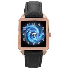 Hole Space Galaxy Star Planet Rose Gold Leather Watch  by Mariart