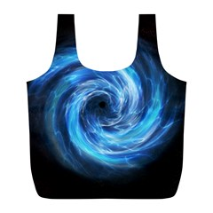 Hole Space Galaxy Star Planet Full Print Recycle Bags (l)  by Mariart