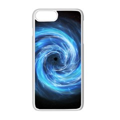 Hole Space Galaxy Star Planet Apple Iphone 7 Plus White Seamless Case
