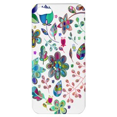 Prismatic Psychedelic Floral Heart Background Apple Iphone 5 Hardshell Case by Mariart