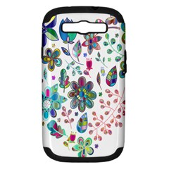 Prismatic Psychedelic Floral Heart Background Samsung Galaxy S Iii Hardshell Case (pc+silicone) by Mariart