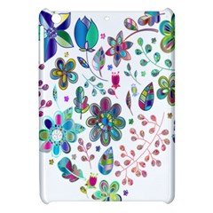 Prismatic Psychedelic Floral Heart Background Apple Ipad Mini Hardshell Case by Mariart