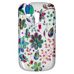 Prismatic Psychedelic Floral Heart Background Galaxy S3 Mini by Mariart