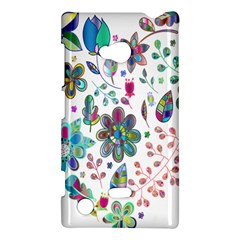 Prismatic Psychedelic Floral Heart Background Nokia Lumia 720 by Mariart