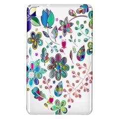 Prismatic Psychedelic Floral Heart Background Samsung Galaxy Tab Pro 8 4 Hardshell Case by Mariart