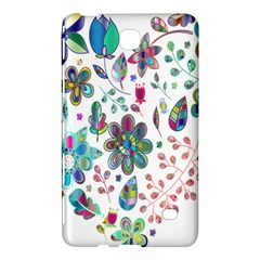 Prismatic Psychedelic Floral Heart Background Samsung Galaxy Tab 4 (8 ) Hardshell Case  by Mariart