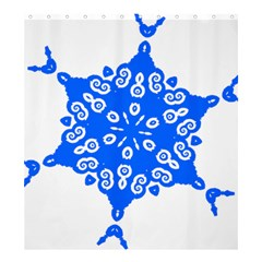 Snowflake Art Blue Cool Polka Dots Shower Curtain 66  X 72  (large)  by Mariart